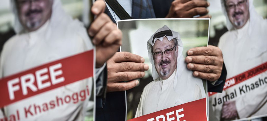 Demonstration to call for Justice for Jamal Khashoggi. (photo: AP)