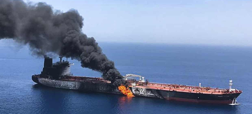 Iran denies responsibility for attacks on two tankers in the Gulf of Oman. (photo: AP)