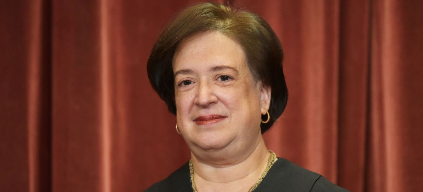 Associate Justice Elena Kagan poses in the official group photo at the US Supreme Court in Washington, D.C. (photo: Mandel Ngan/Getty)