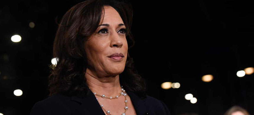 Democratic presidential candidate Kamala Harris. (photo: Michele Eve Sandberg/REX/Shutterstock)