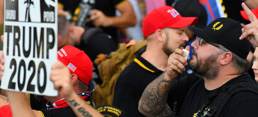 A Proud Boys rally. (photo: Gerardo Mora/Getty Images)