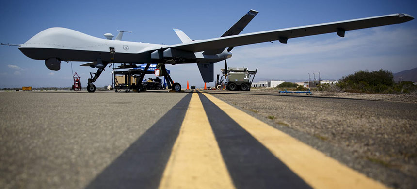U.S. military drone. (photo: Patrick Fallon/Reuters)
