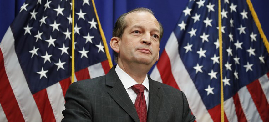 Trump's former secretary of labor Alexander Acosta. (photo: Getty)