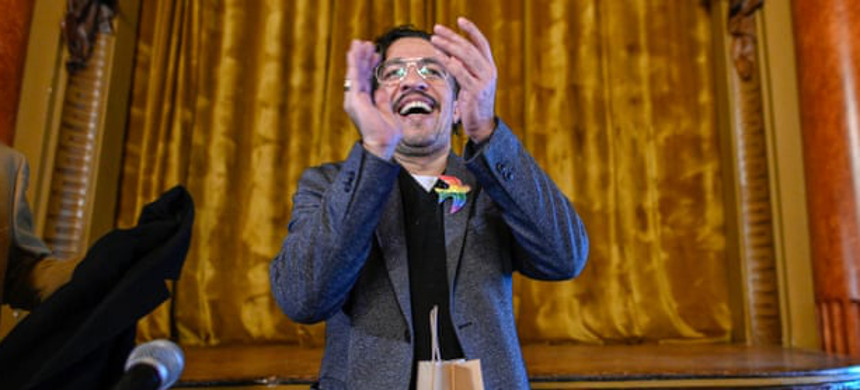 Jean Wyllys, the first openly gay member of Brazil's congress, now lives in exile in Portugal. (photo: Horacio Villalobos/Getty)