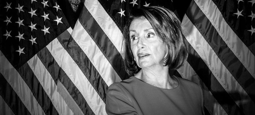 Nancy Pelosi has been reluctant to impeach Donald Trump, but denying the reality of his transgressions will only perpetuate his narcissism and enable him politically. (photo: Mark Peterson/Redux)