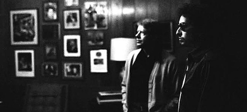 Jimmy Carter and Bob Dylan. (photo: RS)