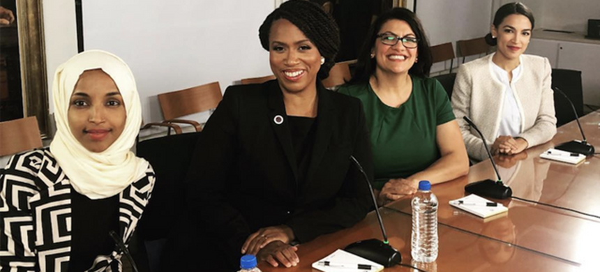 Congresswomen Alexandria Ocasio-Cortez, Rashida Tlaib, Ilhan Omar and Ayanna Pressley. (photo: Instagram)