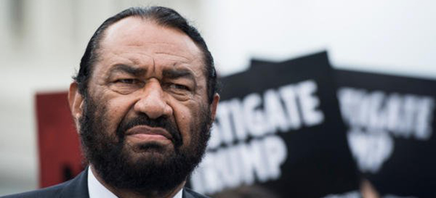 Houston Democratic congressman Al Green participates in an event on May 9, 2019, urging the U.S. House of Representatives to start impeachment proceedings against Donald Trump. (photo: Bill Clark/CQ Roll Call/AP)