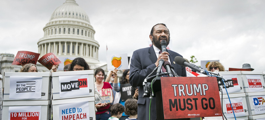 Rep. Al Green of Texas has introduced a resolution to impeach president Trump. (photo: Bill Clark/CQ Roll Call)