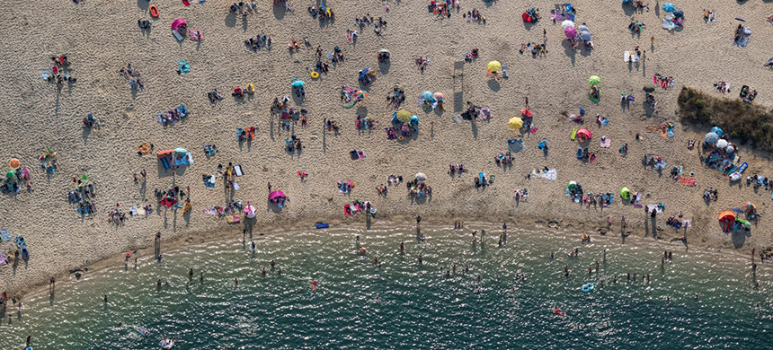 The beach. (photo: Lukas Schulze/Bongarts/Getty Images)