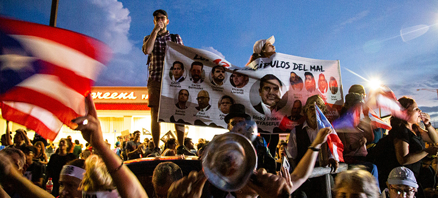 Protests in Puerto Rico. (photo: Erika P. Rodriguez/NYT)