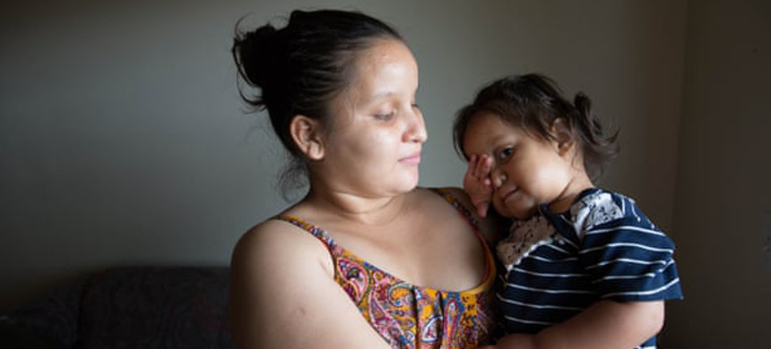Esther Ramos and her daughter, Milagro. (photo: Cady Voge)