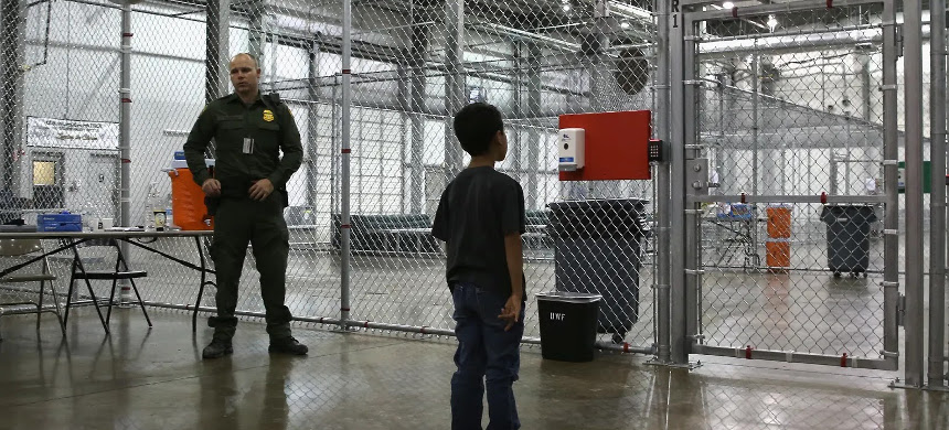 Immigration detention camp. (photo: Getty)