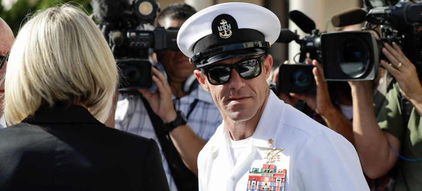 Navy SEAL Eddie Gallagher, who was accused of murdering a wounded captive in Afghanistan. (photo: Getty)