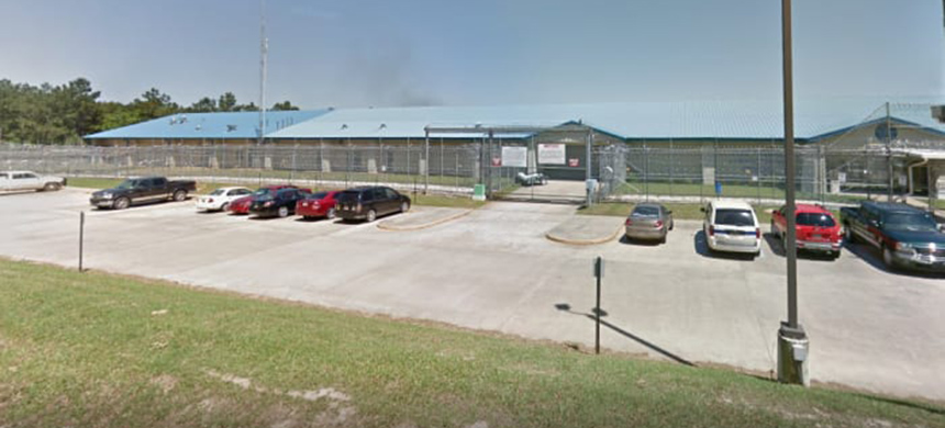 An Immigration and Customs Enforcement detention center in Louisiana. (photo: Google Maps)