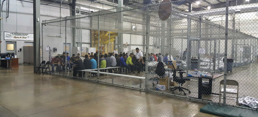 U.S. Border Patrol agents conduct intake of illegal border crossers at the Central Processing Center in McAllen, Texas, Sunday, June 17, 2018. (photo: U.S. Border Patrol)