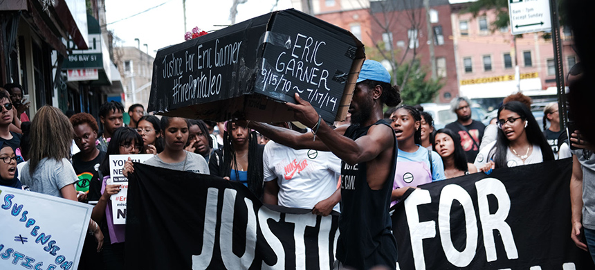 A rally for Eric Garner. (photo: Spencer Platt/Getty Images)