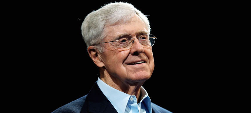 A new book reveals that Charles Koch, along with his brother David, played an earlier and more central role in climate-change denial than was previously understood. (photo: David Zalubowski/AP)