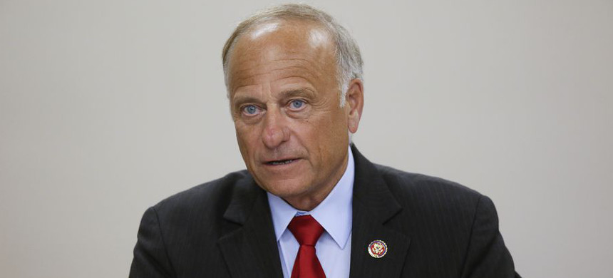 U.S. Rep. Steve King (R-IA) speaks during a town hall meeting in Boone, Iowa. (photo: Joshua Lott/Getty)