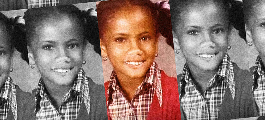 Goldie Taylor as a child. (image: Daily Beast)