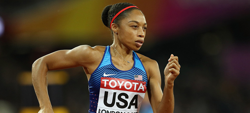 Allyson Felix. (photo: Patrick Smith/Getty Images)