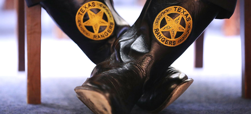 The boots of a Texas Ranger. (photo: Chip Somodevilla/Getty Images)