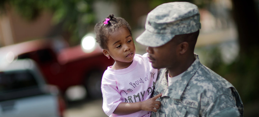 The Trump administration is making it harder for the children of immigrants who serve in the military to become US citizens. (photo: Getty)