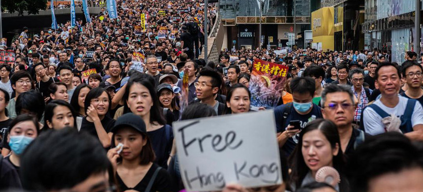 Hong Kong protesters. (photo: Getty)