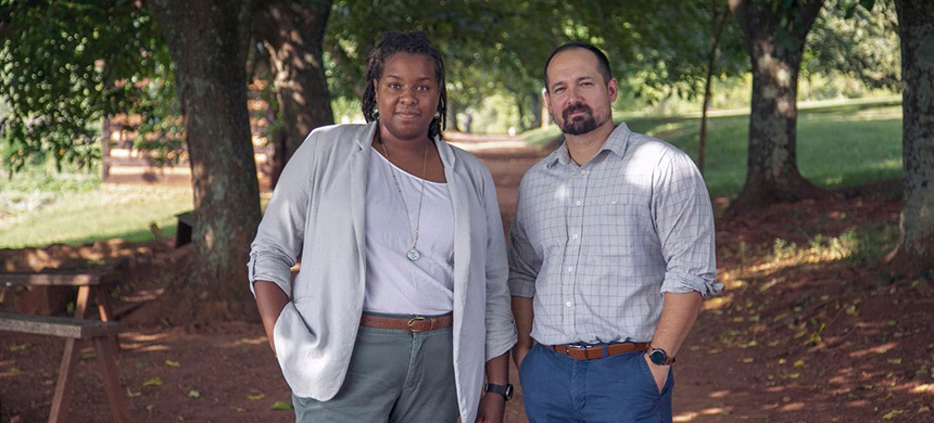 Niya Bates is Monticello's director of African American history, and Brandon Dillard is its manager of special programs. (photo: Will Dillon/Thomas Jefferson Foundation at Monticello)