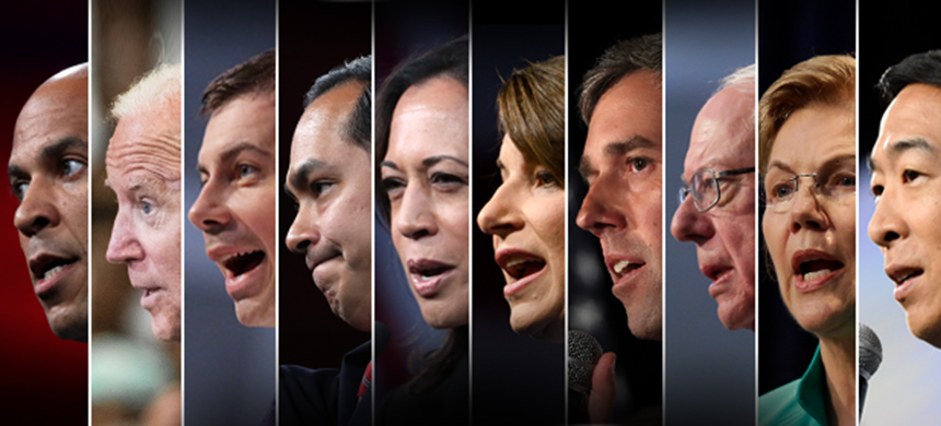 Candidates from the Democratic debates. (photo: TheWrap/Getty Images)