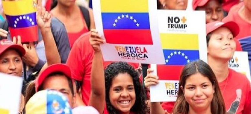 Thousands of Venezuelans took to the streets on the last day of the #NoMoreTrump campaign to reject the unilateral measures against the country. (photo: Venezuelan Ministry of Communication)