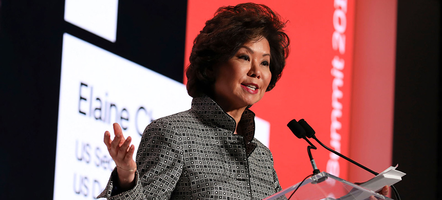 Elaine Chao. (photo: Tasos Katopodis/Getty/Uber Elevate)