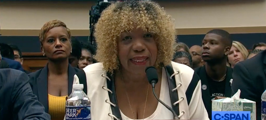 Gwen Carr, the mother of Eric Garner. (photo: C-SPAN)
