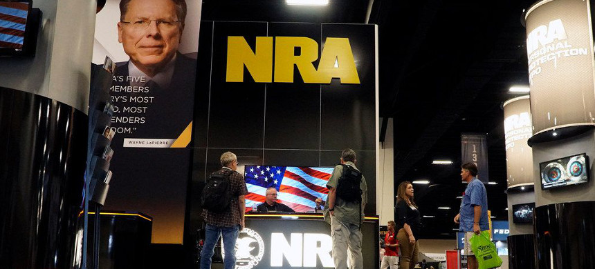 NRA Personal Protection Expo at the Tarrant County Convention Center in Fort Worth, Texas, Friday, Sept. 6, 2019. (photo: Lawrence Jenkins/Getty)