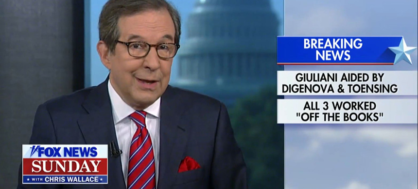 Chris Wallace on Fox News Sunday. (photo: Fox News)