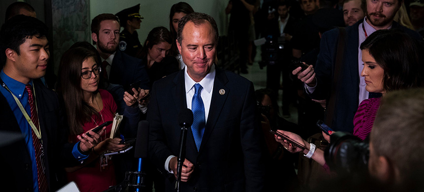 Chairman Adam Schiff after a House Intelligence Committee hearing last week in Washington. (photo: Anna Moneymaker/NYT)