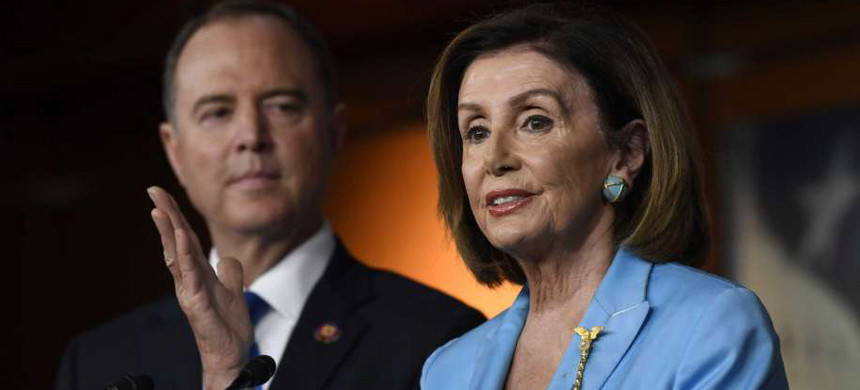 Speaker Nancy Pelosi and Rep. Adam Schiff. (photo: Getty)