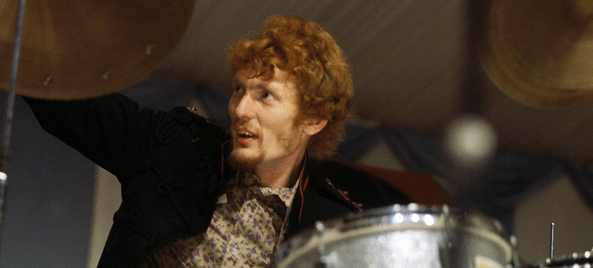 Ginger Baker, performing with Cream in 1966. (photo: David Redfern/Redferns)