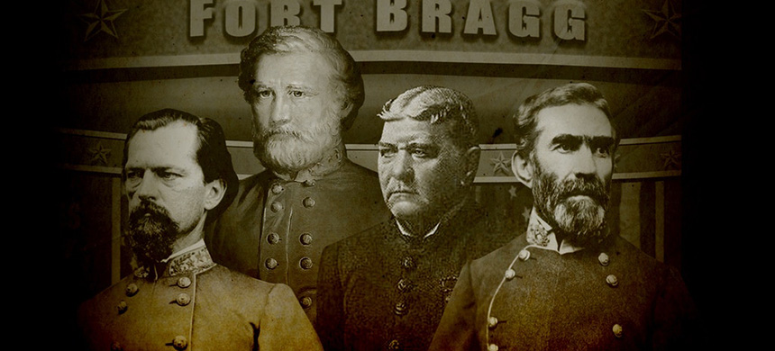 Confederate generals. (photo: Soohee Cho/The Intercept/National Archives/University of Georgia School of Law/Wikimedia Commons/Library of Congress/Getty Images)