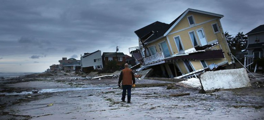 The aftermath of Hurricane Sandy at Breezy Point, New York. (photo: David Shub/Flickr)