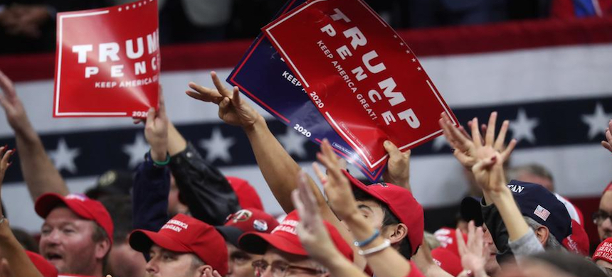 Supporters react as U.S. president Donald Trump holds a campaign rally in Minneapolis, Minnesota. (photo: Leah Millis/Reuters)