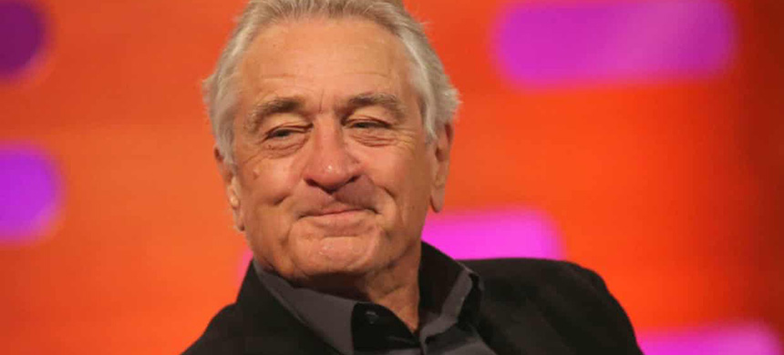 Robert De Niro during filming for The Graham Norton Show on Friday. (photo: Isabel Infantes/PA)