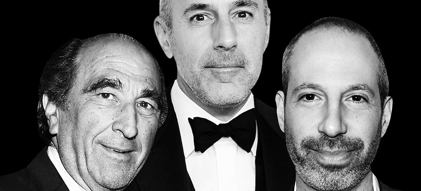 Andrew Lack, Matt Lauer, and Noah Oppenheim. (photo: George Pimentel/WireImage/Getty Images)