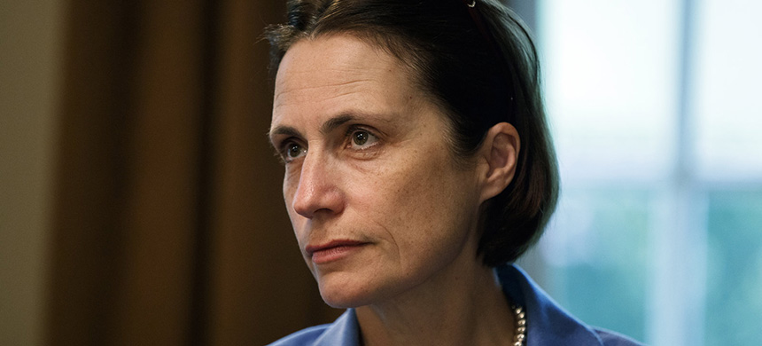 Fiona Hill, a former White House adviser on Russia, is testifying Monday in connection with the House impeachment inquiry of President Trump. (photo: Evan Vucci/AP)