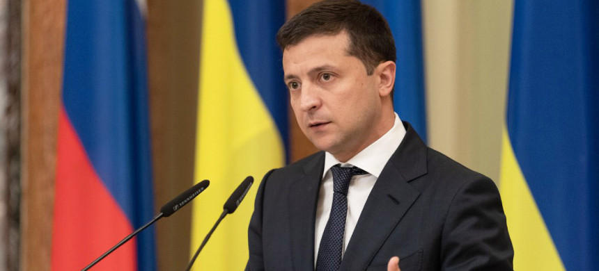 Ukrainian leader Volodymyr Zelenskiy. (photo: AP)