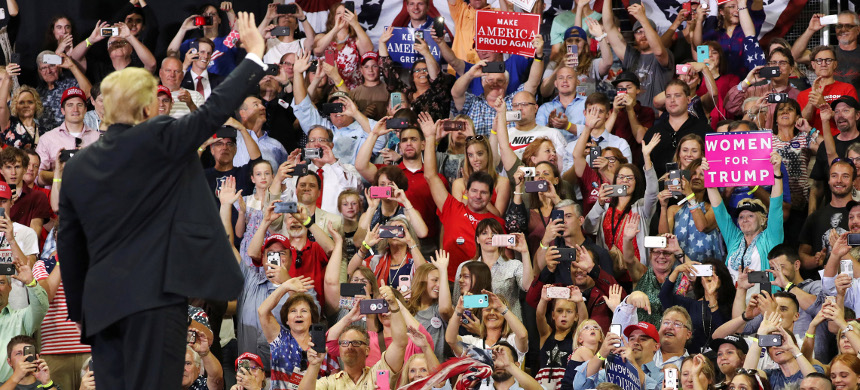 Trump rally. (photo: Jonathan Ernst/Reuters)