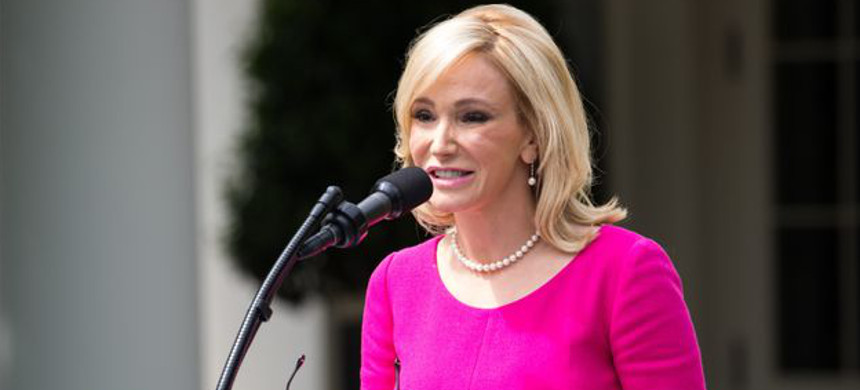 Paula White, a spiritual adviser to the president, speaks at the National Day of Prayer ceremony at the White House on May 4, 2017. (photo: Getty)