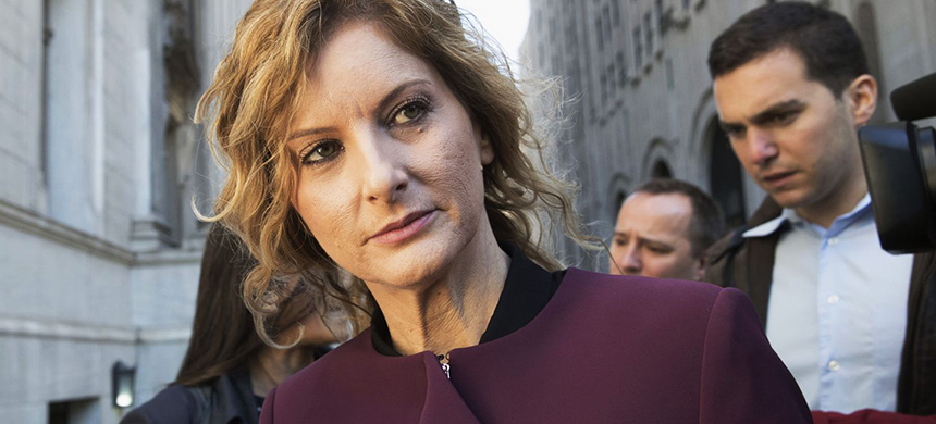 In this Oct. 18, 2018 file photo, Summer Zervos leaves New York state appellate court in New York. (photo: Mary Altaffer/AP)