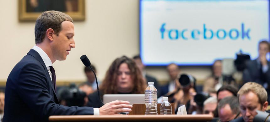 Facebook CEO Mark Zuckerberg testifies before the House Financial Services Committee on Oct. 23, 2019. (photo: Aurora Samperio)