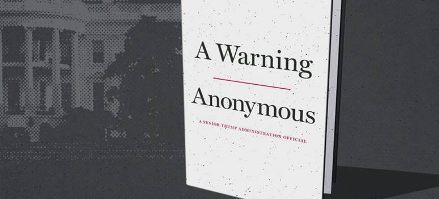 'A Warning,' a book from an anonymous senior Trump administration official, will be published in November. (photo: Twelve Publishing)